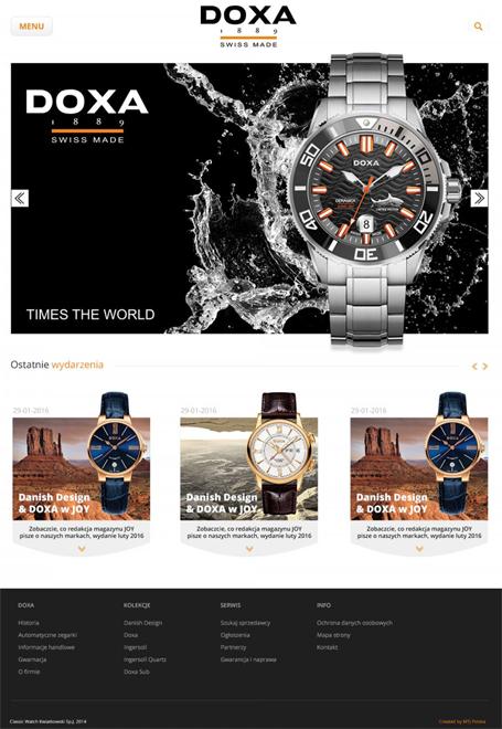 sklep internetowy z zegarkami doxa